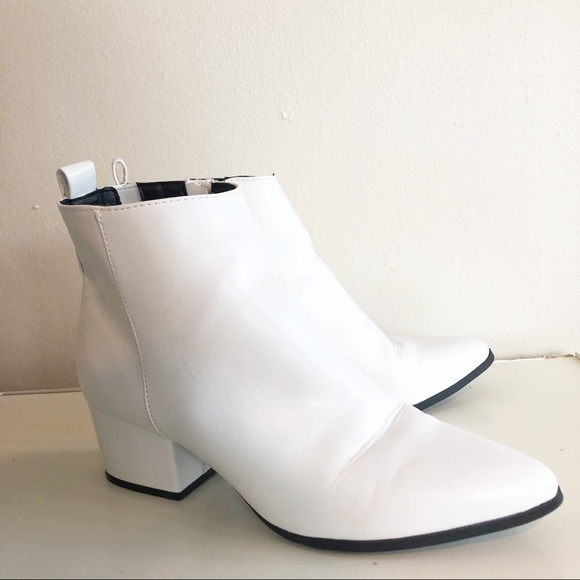 White Valerie City Ankle Boots